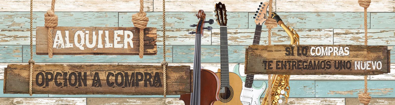 Banner alquiler instrumentos