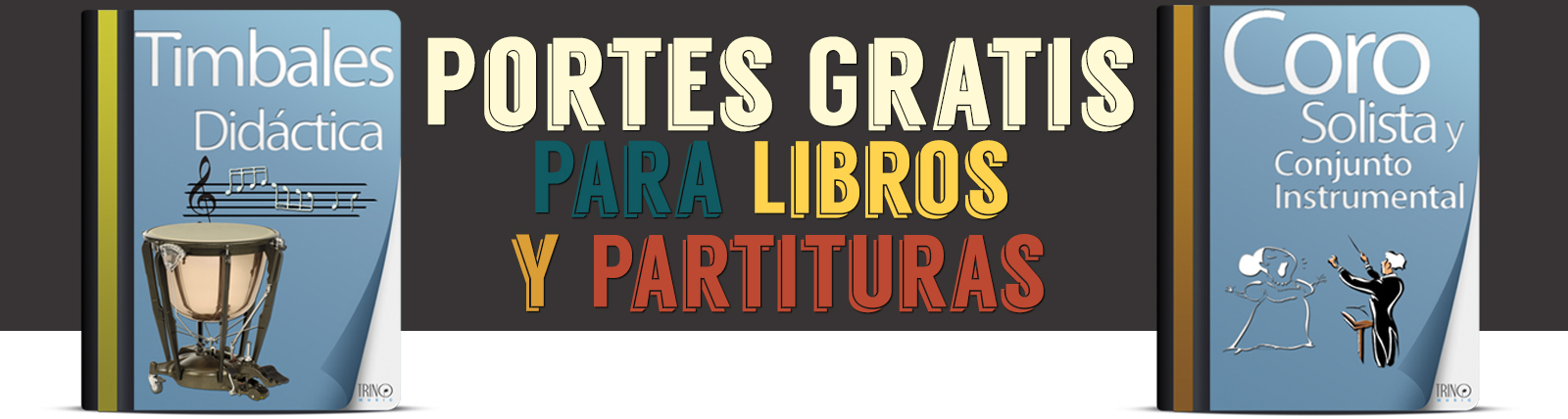 Banner Libros y partituras Porte gratis