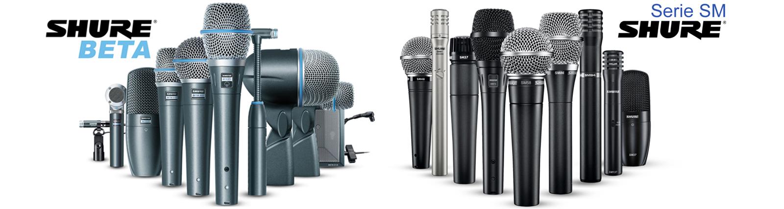 microfonos shure