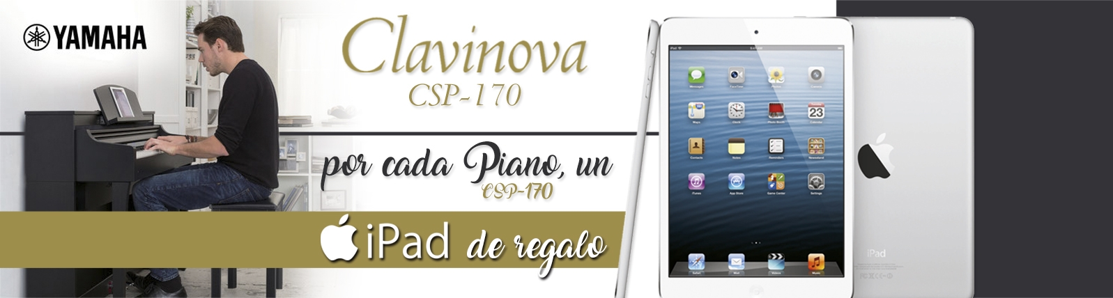 Banner ipad de regalo mas clavinova csp 170