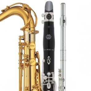 saxofon, clarinete, flauta, oboe, fagot, viento madera
