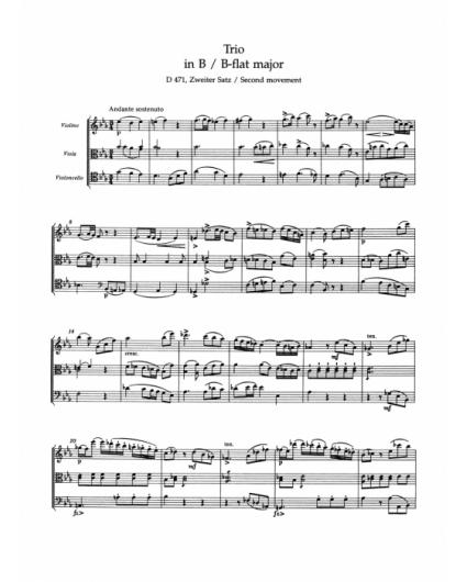 Streichtrios B-Dur 471 und B-Dur 581