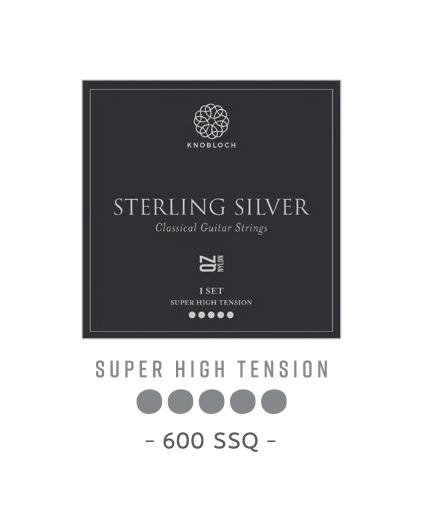Cuerdas Knobloch Actives Sterling Silver Nylon QZ 400SSQ Super Alta