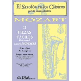 doce Piezas Fáciles Saxo Soprano. Grado Elemental