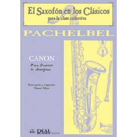 canon pachalbel cuarteto saxofones