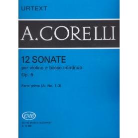12 Sonate Op. 5  Parte Prima (A: Nº 1-3)