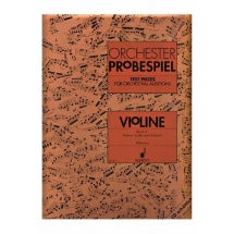 Orchester Probespiel. Violin Band 2