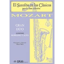 gran duo mozart saxofon soprano y alto