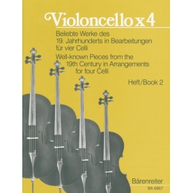 Violoncello x 4 (Well-Known Pieces from the S. XIX Vol. 1)