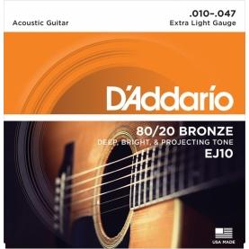 Set D'addario Acustica EJ10