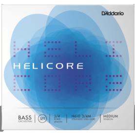 Cuerdas Contrabajo D'addario Helicore H610