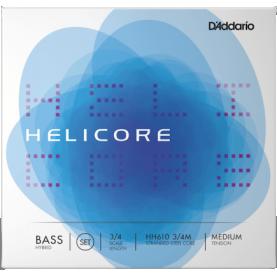 Cuerdas Contrabajo D'addario Helicore Hybrid