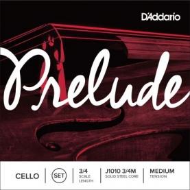 Juego de Cuerdas Cello D`addario Prelude J1010 3/4