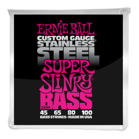 Cuerdas Ernie Ball Stainless Steel Super Slinky Bass