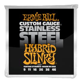 Cuerdas Ernie Ball Stainless Steel Hybrid Slinky